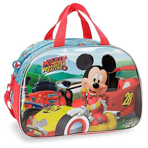 Disney Mickey Roadster Racers Bolsa de Viaje Multicolor 40x28x22 cms Poliéster 24.64L