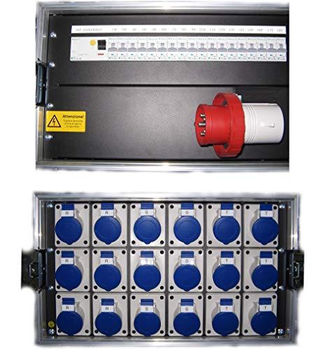 DG Systems – Cuadro eléctrico 32 A 5 P en carcasa flight con 18 CEE y 18 m – Fabricado en Italia