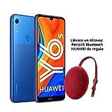 Huawei Y6s - Smartphone de 6.09' (RAM de 3 GB, Memoria de 32 GB, Cámara trasera de 13MP, Cámara frontal de 8MP, EMUI 9) Azul + Portable Bluetooth Speaker CM51 Rojo