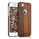 kalibri Funda Compatible con Apple iPhone 7/8 - Carcasa Protectora Trasera Delgada de Madera - En marrón