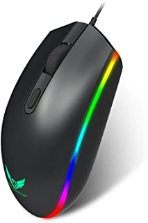 Bundle of 2, Docooler S900 Computer Gaming Mouse 1600DPI 4 Buttons RGB LED Backlight Optical Ergonomic Mouse USB Wired Mic...