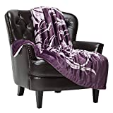 Chanasya Best Mom Ever Gift Throw Blanket - Birthday, Christmas, Holiday, Valentine's Day, Hospital or Mother's Day Present for Women Mother Wife - Super Soft Sherpa (50x65 Inches) - Aubergine Blanket