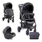 Lorelli Poussette Daisy 2 en 1, siège auto bébé, siège sport, couvre-pieds, coloris:noires