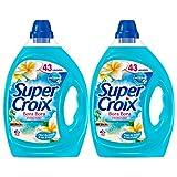 Super Croix Bora Bora - Lessive Liquide - Fleur de Monoï - 86 lavages (Lot de 2 x 2,15L)