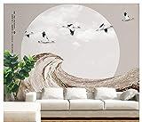 3D Murales Papel Pintado Pared Calcomanías Decoraciones Fondo Del Paisaje Del Vuelo Del Río De La Resaca Del Estilo Chino Art º Chicas Dormitorios (W)250X(H)175Cm