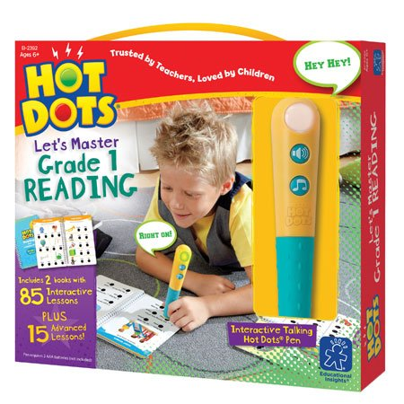 Educational Insights Hot Dots Let's Master 1st Grade Reading Set, Homeschool & School Readiness Learning Workbooks, 2 Books & Interactive Pen, 100 Math Lessons, Ages 6+