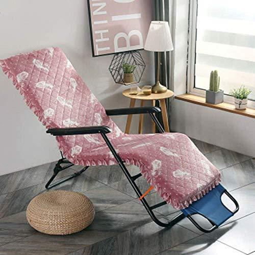Indoor Outdoor Lounge Stuhl Kissen, Lounge Chaise Kissen Patio Recliner Stuhl Kissen für Garten Sofa Bank (nur Kissen) Pink 52160cm (2063inch)