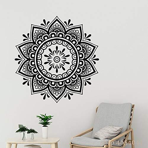 Etiqueta de la pared Boho Mandala Flor Patrón Arte Calcomanía Estudio de yoga Dormitorio Floral Mural Bohemio Extraíble Decoración para el hogar Sala de estar