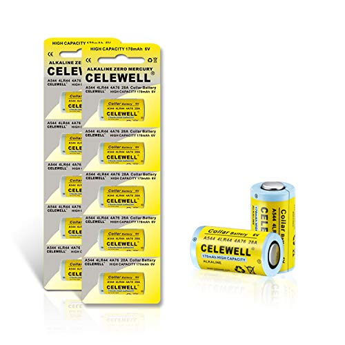 5-Year Warranty CELEWELL 4LR44 6V Battery 170mAh High Capacity Same as 28A 4A76(10-Pack)
