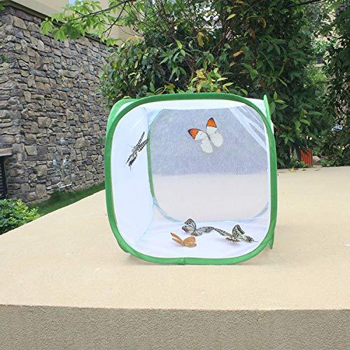 KTUCN Schmetterlingskäfig, Faltbarer Insektennetz-Haustier-Insektenkäfig Insektenkäfig-Schmetterlingslebensraum, White, 30X30X30