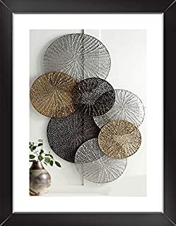 Pbdesigns - Gold Item Modern Art Wall Poster with Framed for Home and Office Décor on 300gsm Paper (Size 13.5 Inch X 10.5 ...