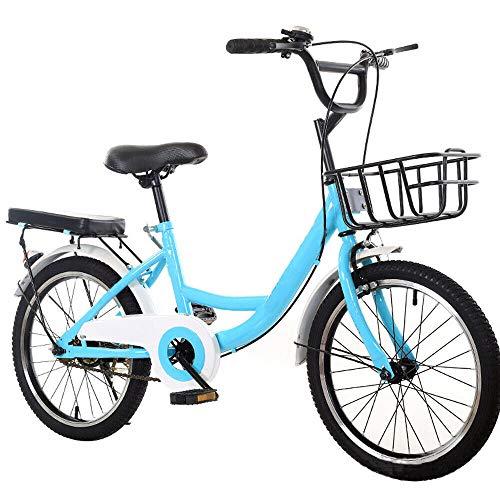 Wangkangyi - Bicicleta infantil de 20 pulgadas para niños y niñas | Bicicleta para niños Cruiser | (Altura recomendada: 115-130 cm) City Bike, bicicleta infantil (azul)