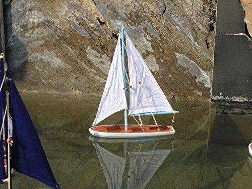 Hampton Nautical It Floats Floating Sailboat, 12', Light Blue