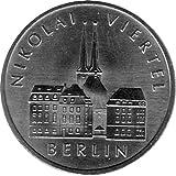 Münze 5 Mark Gedenkmünze Nikolaiviertel, DDR 1987 A (Jäger: 1613) Stempelglanz, Kupfernickelzink