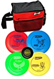 Innova Disc Golf Set with 4 Discs and Starter Disc Golf Bag – DX Distance Driver, Fairway Driver, Mid-Range, Putter and Mini Marker Disc
