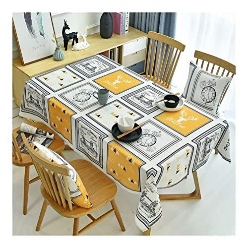 NOBRAND eenvoudige moderne tafelkleed kleine fris fotolijst waterdichte salontafel tafelkleed vlek stofdichte doek decoratieve tafelkleed