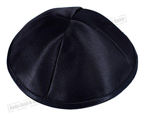 Zwarte Covering Cap Satijn Kippah Yarmulke Tribal Joodse Yamaka Kippa Israel Hoed