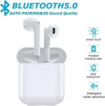 Latest Upgrade Bluetooth 5.0 True Wireless Earbuds with Charging Case Waterproof Earbuds 30 Hours Playtime TWS Stereo Headphones Built-in Mic Earbuds Premium Sound with Deep Bass for Running, Sport