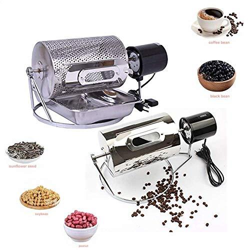 QuXiaoMo Kaffeeröstmaschine, Mini-Kaffeeröstmaschine aus rostfreiem Stahl, 250 g Röstwerkzeug für Saatgut
