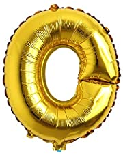 """16"""" inch Single Gold Alphabet Letter Number Balloons Aluminum Hanging Foil Film Balloon Wedding Birthday Party Decoration Banner Air Mylar Balloons (16 inch Gold O)"""