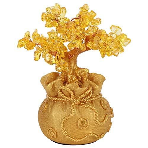 Deror Ornamento del Arte de la Resina de la decoración del árbol de Oro para el Pasillo de la Sala de Estar del gabinete del Vino del hogar