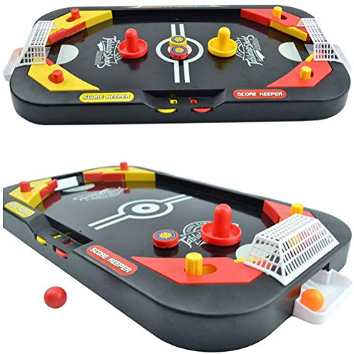 YUYUGO Tabletop Air Hockey Game 2 in 1 Soccer and Knock Hockey Table Top Game  Classic Arcade Games Tabletop Shooting Fun Toys for Kids Adults