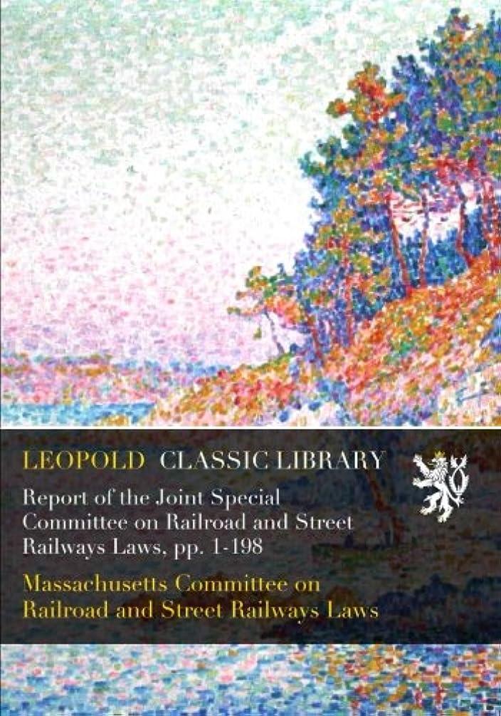 ウールチキンパンフレットReport of the Joint Special Committee on Railroad and Street Railways Laws, pp. 1-198