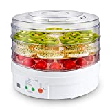 Qqmora Deshidratador de Alimentos Secadora de Alimentos Ciclo de Calentamiento de 360 Grados de Calor rápido, Herramientas de Cocina para la Cocina casera de Frutas(Rosado)