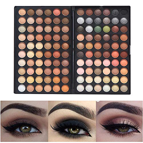 Paleta de Sombra de Ojos Colección Vivo Brillante Kit de Maquillaje Caja Profesional para Maquillaje Accesorio cosmético de Belleza (Paleta de Sombra de Ojos de 120 Colores) (120-4)