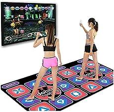 Double Players Dance Mat, Wireless Electronic Dance Mats, Dual User Fun Dancing Mat for Adults Kids, Large Non-Slip Dancer Step Pads Sense Game English for PC TV (Dual User | B)
