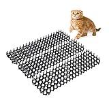 hujio Aoligei Alfombrilla para Gatos con Púas 200x28cm, Jardín Protector Neto del Gato de Plástico Anti-Cat Tapón de Excavación para Mantener Alejados a los Animales3PCS 40X28CM