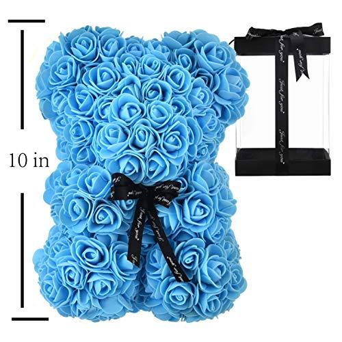 Rose Bear - Rose Teddy Bear 10 inch Hugz Teddy Flower Bear...