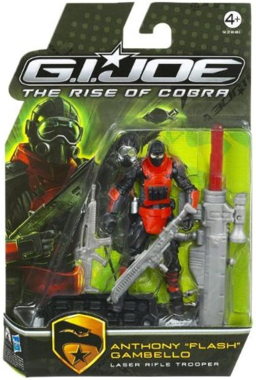 G.I. Joe The Rise of Cobra 3 3 4  Action Figure Anthony  Flash  Gambello (Laser Rifle Trooper) B002GNWUIY Spielen Sie auf der ganzen Welt und verhindern Sie, dass Ihre Kinder einsam sind   | Am wirtschaftlichsten