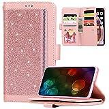 Cover Smasung Galaxy A51,JAWSEU Brillantini Glitter Bling Flip Portafoglio Cudtodia Protez...