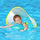 Swimbobo Baby Swimming Float Inflatable Infant Pool Float Ring with Sun Protection Removable
