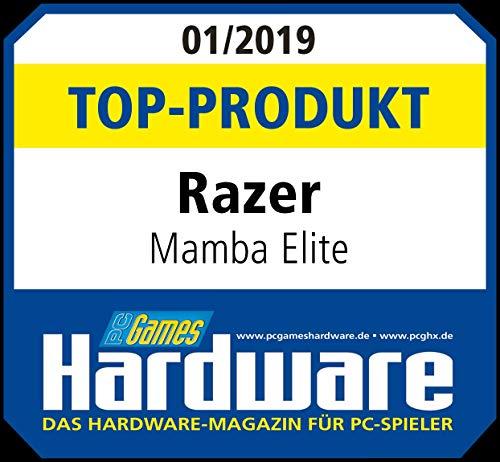 Razer Mamba Elite Gaming Maus (mit 9 programmierbaren mechanischen Tasten, Optischer Sensor mit echten 16.000 DPI und RGB Chroma Beleuchtung)