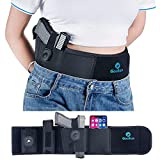 Belly Band Holster XL for Concealed Carry - Waist Gun Holsters for Men and Women - Fits Glock, Ruger LCP, Taurus, S&W M&P 40 Shield Bodyguard, Sig Sauer, Kahr, Beretta, 1911, etc