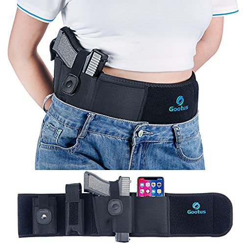 Belly Band Gun Holster for Concealed Carry - Waist Pistol...