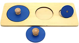 Sanwooden Interesting Toy Baby Panel Toy Wooden 3 Circles Baby Grasping Panel Board Puzzle Kids Preschool Educational Toy ...
