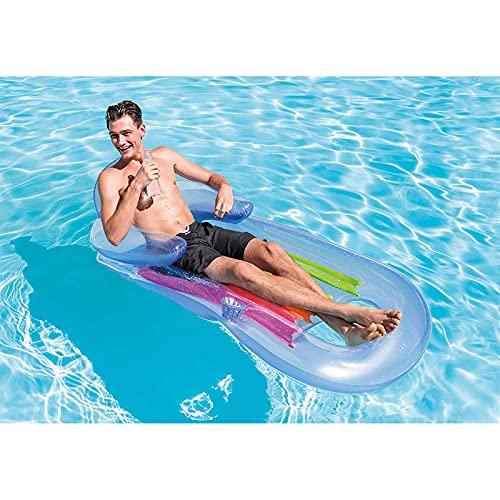 Flotadores,Tumbona Hinchable,Anillo de Flotador de Piscina Inflable, Juguetes de Verano para Niños y Adultos, Piscina para Fiestas en la Playa