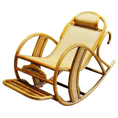 XLSQW Sesselstuhl, Komfortables Entspannung Schaukelstuhl handgefertigte Rattan-Terrassenmöbel im Freiensessel Lounge Chair, für Indoor, Outdoor, Büro, Zuhause
