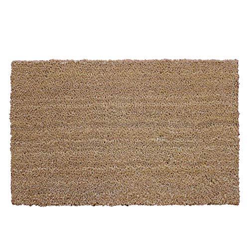 tapis déco paillasson 40x60 cm coco uni paco naturel