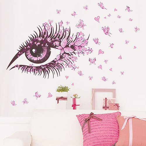 Bodhi2000® - Adhesivo decorativo para pared (diseño de mariposa), diseño de ojos y decoración del hogar