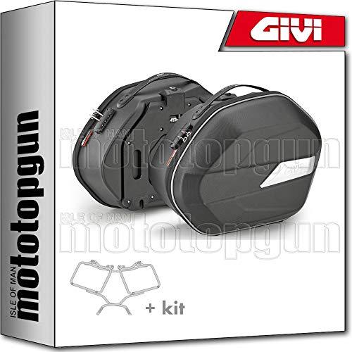 givi portamaletas lateral + maletas lateral wl900 trekker ii black line35 compatible con suzuki dl 650 v-strom 2009 09