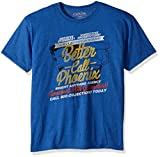 American Classics Unisex-Erwachsene Ace Attorney Better Call Pheonix Adult Short Sleeve T-Shirt, Retro Royal Heather, Large
