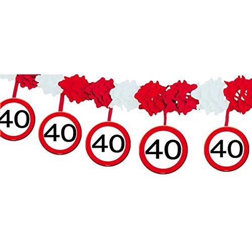 Verjaardag party slinger 40 jaar party decoratie