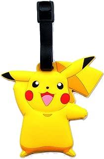 Pokemon Pikachu Designed PVC Embossed Luggage Id Bag Baggage Name Travel Tag Go