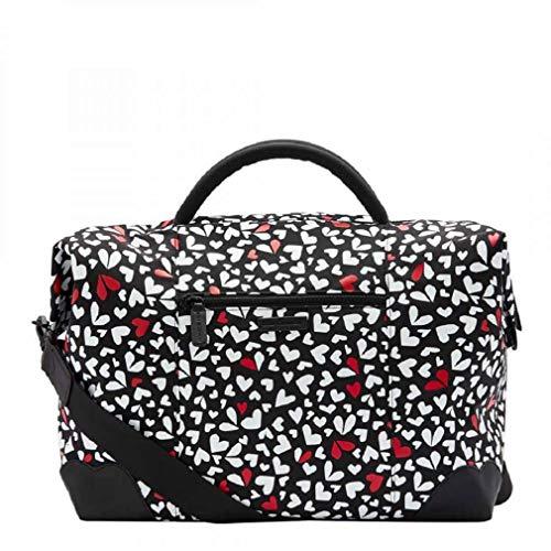 Lulu Guinness Black and Chalk Fenella Design Weekend Holdall Bag