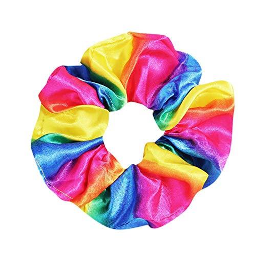 Bandas elásticas de goma para el pelo, para chicas y chicas, con gomas para el pelo de flores (varios colores) y con bolsa de regalo amarillo Talla única