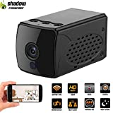 Shadow A14 WiFi Hidden Camera - WiFi Sports Action Camera - Mini Spy Camera-Wireless Network Camera-Built-in 2400mAh Battery Can Work for 10 Hours Continuously - Compatible with Alexa